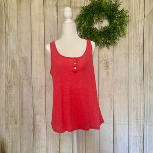 Ana. Tank top with buttons. Size M